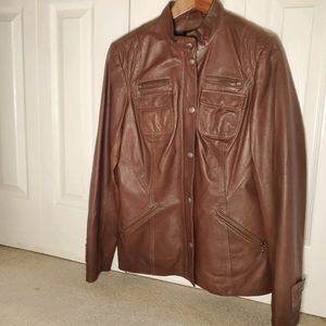 Small Danier Brown Leather Jacket